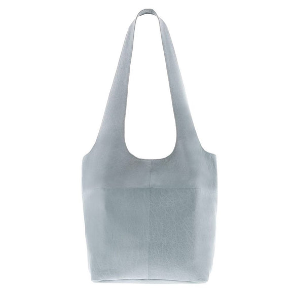 Gabee Sorrel Small  soft leather tote  - Mist