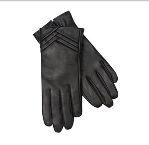 Jendi Leather, Screen Touch Gloves - Black