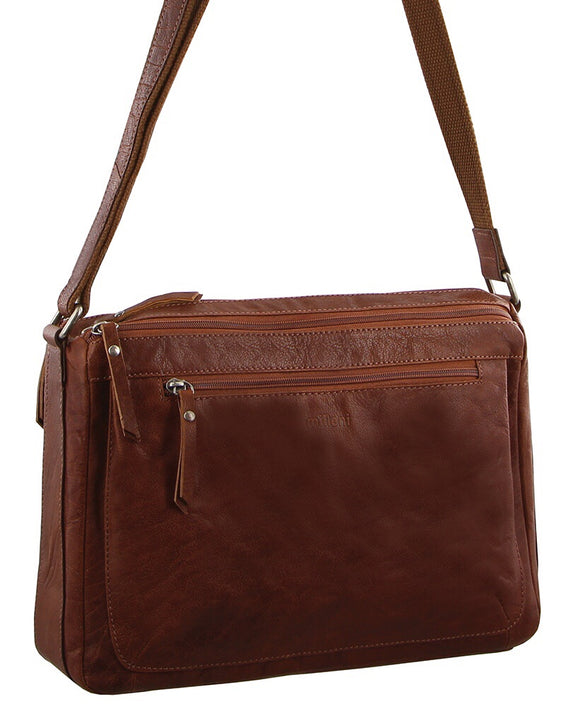 Milleni crossbody handbag - Chestnut