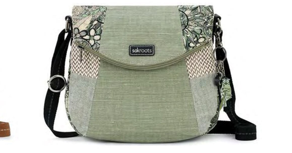 The Sak fold over crossbody bag- Sage Spirit Desert