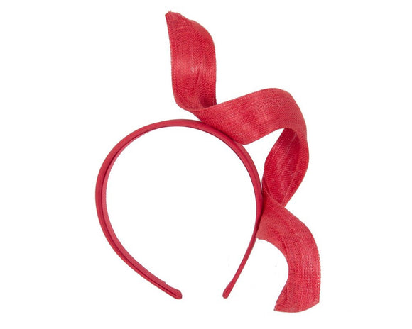 Fillies Collection twist fascinator - Red