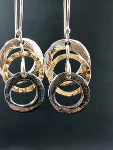Smadar design silver and gold earrings