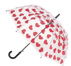 Clifton PVC Umbrella -Love Hearts