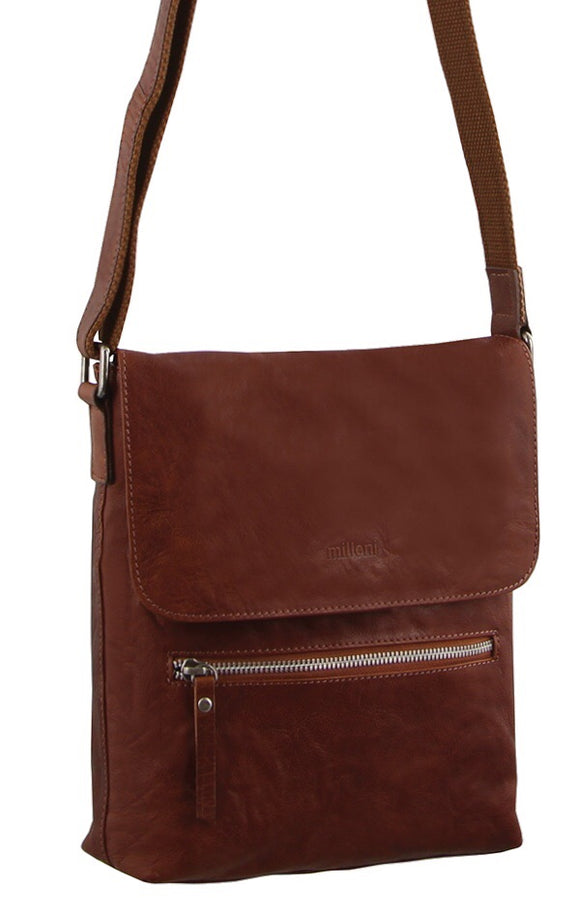 Milleni small crossbody handbag - Chestnut