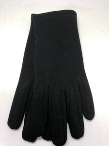Jendi Plain Jersey Gloves - Black