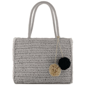 Gabee Coogee woven tote- Grey