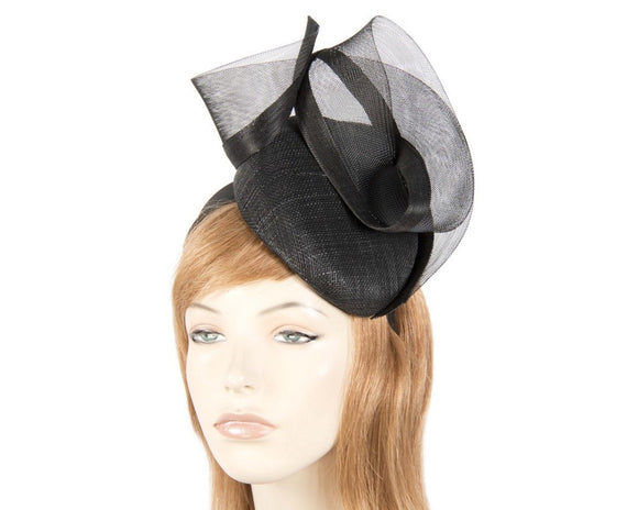 Fillies Collection pillbox and sheer  fascinator - Black