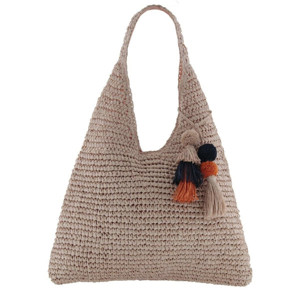 Gabee Cottesloe woven tote- Pink