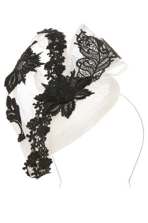 Fiona Powell Sinamay Beret with Twist and Lace