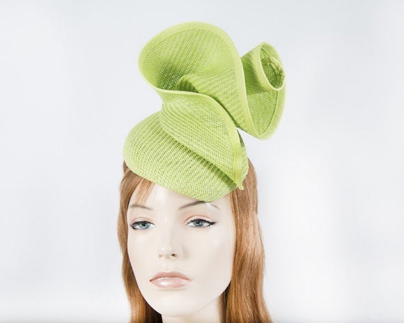 Fillies Collection sculptured Pillbox fascinator - Lime Green