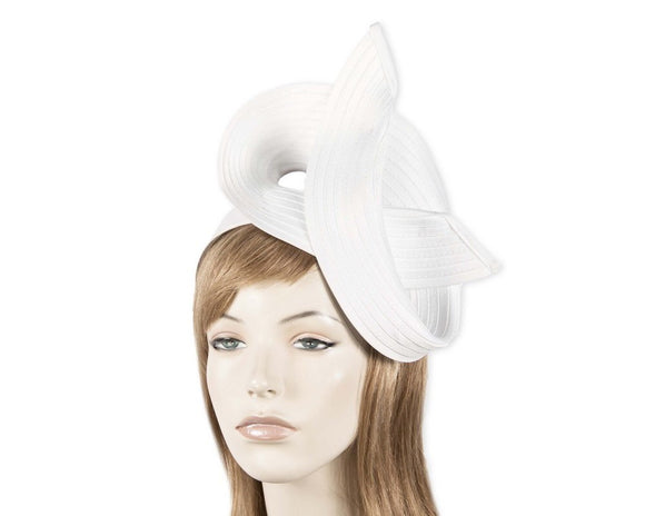 Max Alexander twisted fascinator - White