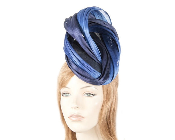 Fillies Collection pillbox and twist fascinator - Navy and Royal blue