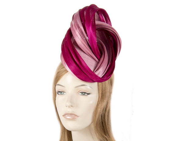 Fillies Collection pillbox and twist fascinator - Magenta and Pink