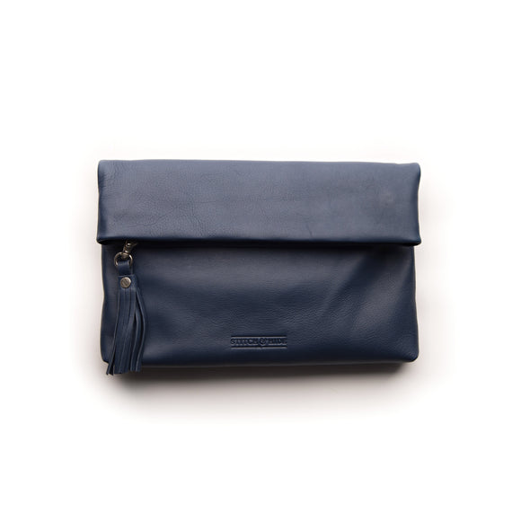 Stitch and Hide Lily Clutch - Ocean