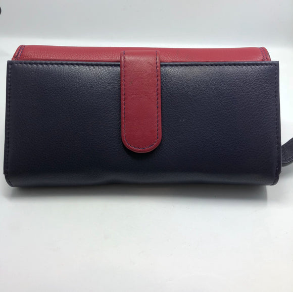 Gianotti leather  wallet- Multi colour Fuchsia