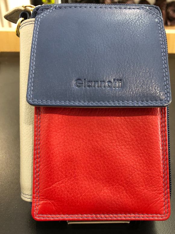 Gianotti leather sling wallet - Multi colour Royal