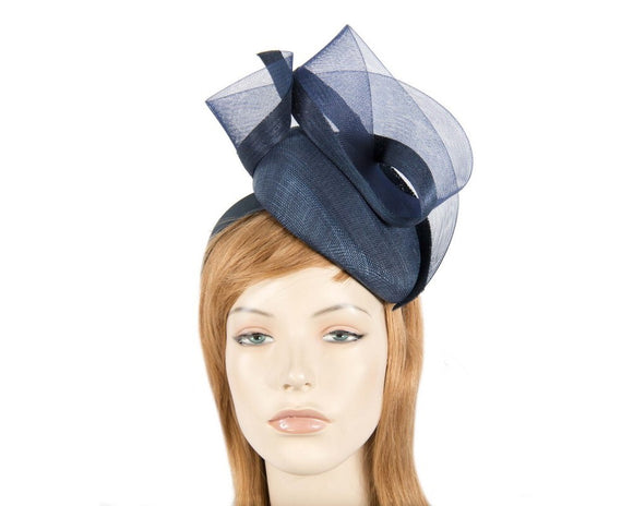 Fillies Collection twist fascinator - Navy