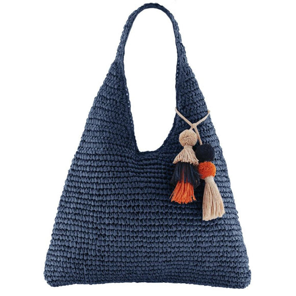 Gabee Cottesloe woven tote- Navy