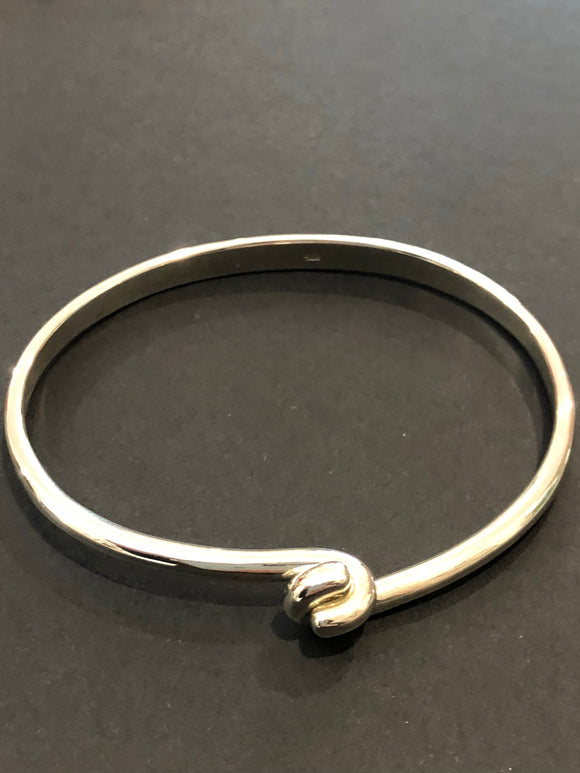 Aztec Jewellery Clasp Bangle- Sterling Silver