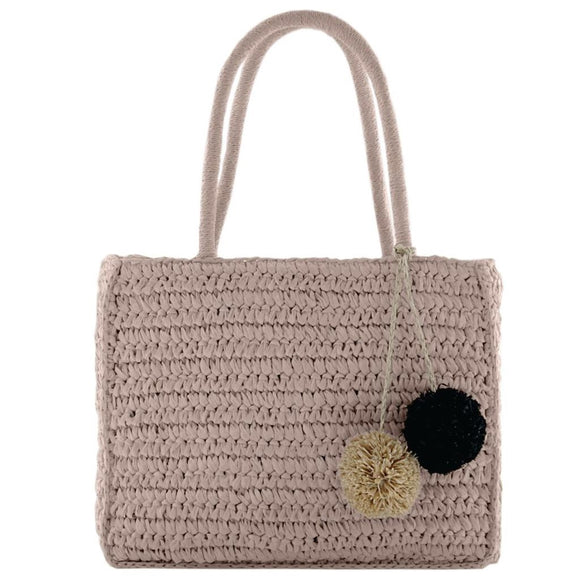 Gabee Coogee woven tote- Pink