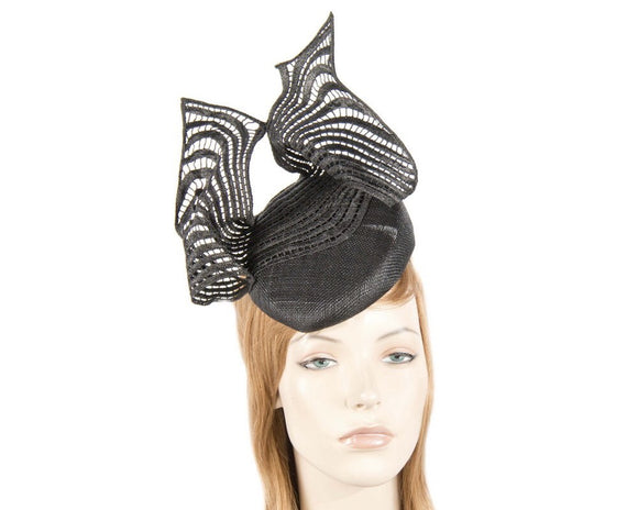 Fillies Collection pillbox lace fascinator -Black