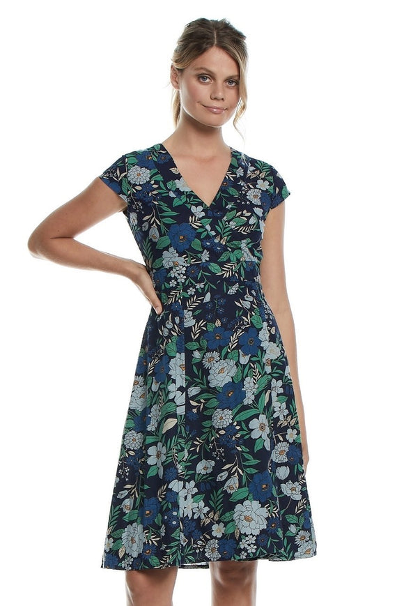 Mahashe wrap dress - Poppy