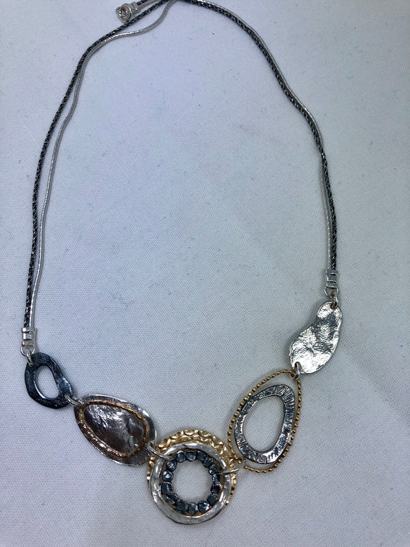 Smadar design silver and  gold necklace