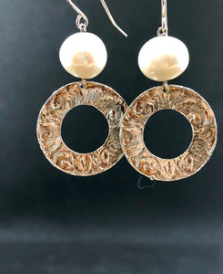 Smadar design silver and pearl earrings