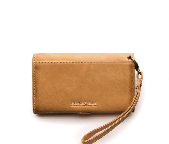 Stitch and Hide Sophie Phone Wallet - Caramel