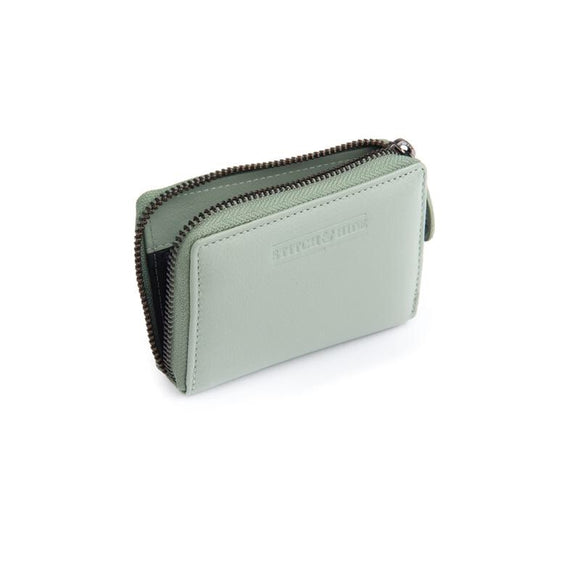 Stitch and Hide Hunter Card  Wallet - Sage