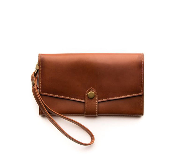 Stitch and Hide Sophie Phone Wallet - Maple