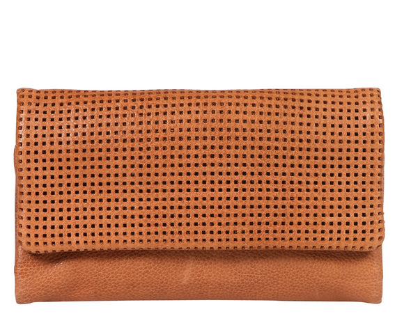 Modapelle Perforated design wallet - Tan