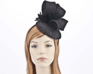 Max Alexander lace  Pillbox fascinator - Black