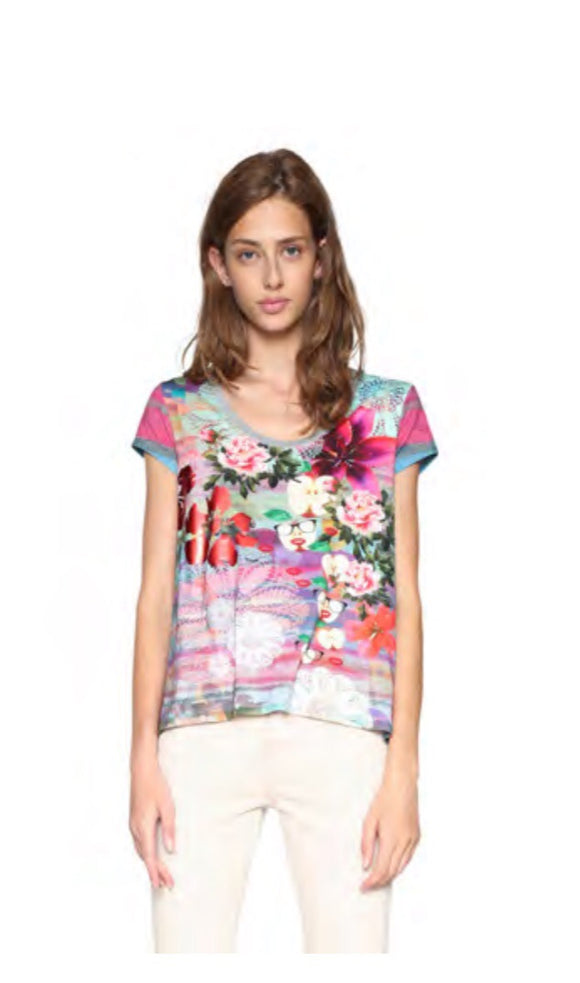 Desigual Short Sleeve Top-Darling