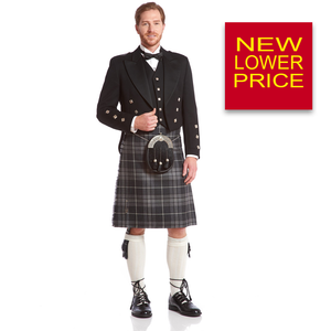 Prince Charlie Jacket & Kilt Rental Package | 5 Button Vest