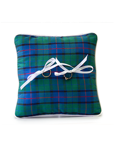 Tartan Silk Ring Pillow