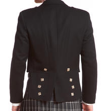 Prince Charlie Kilt Jacket & 3-button Vest | Black