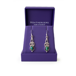 Heathergems Sterling Silver Celtic Knot Earrings | The Scottish Company | Toronto
