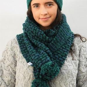 Jade McConnell basketweave bobble scarf | The Scottish Company