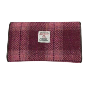 Harris Tweed Tiree salmon pink wallet | The Scottish Company