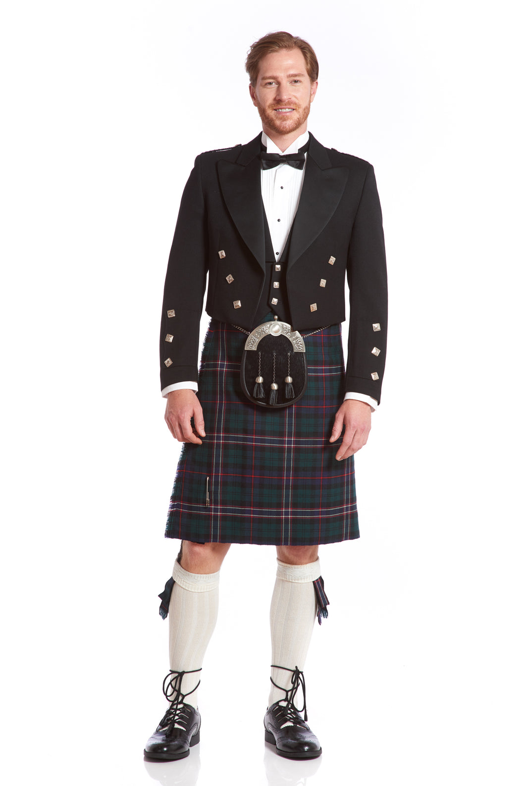 Prince Charlie Jacket & Kilt Rental Package | 3 Button Vest
