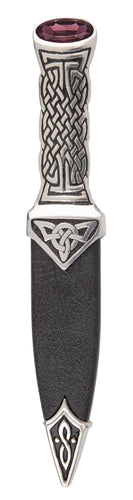 Dress Sgian Dubh | Celtic Boisdale in polished pewter with stone top