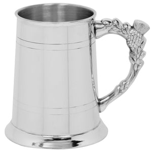 Tankard | Thistle Handle in Pewter