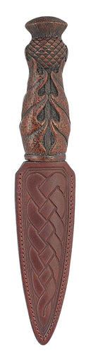 Daywear Sgian Dubh | Thistle Handle with leather sheath