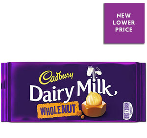 Cadbury Dairy Milk Whole Nut Chocolate Bar | The Scottish Company