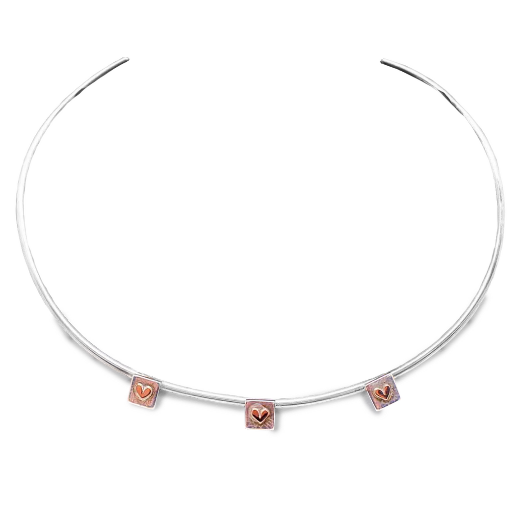 Linda MacDonald | Petite Hearts Collar Necklace