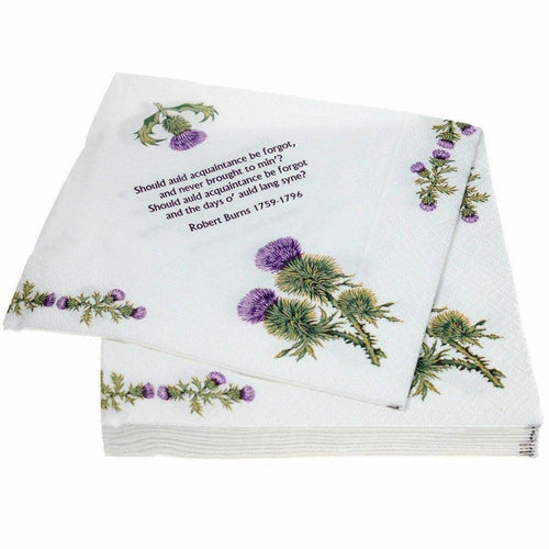 The Scottish Company Glen Appin Thistle & Robert Burns Napkins
