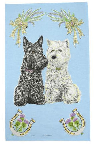 Scottish Dogs Tea Towel | The Scottish Company | Toronto Canada