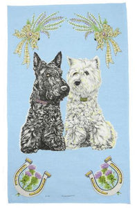Tea Towel | Scottish Dogs
