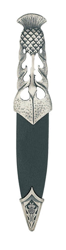 Dress Sgian Dubh |  Ryan Thistle design in matte pewter